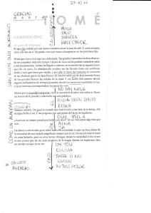 Here you see a picture of a text by Marta Tomé, published in Ós- The Journal, handwritten additions by Andrea Botero